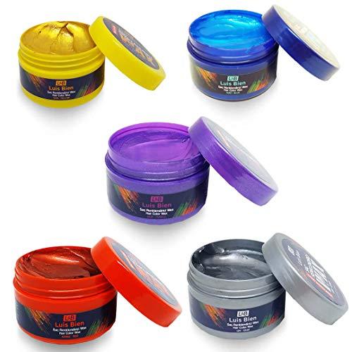 Luis Bien Haarwachs Farbig Gelb Blond Haarcreme Gel Männer Frauen Styling Creme Wax für Hair Pomade Lange Kurze Haare