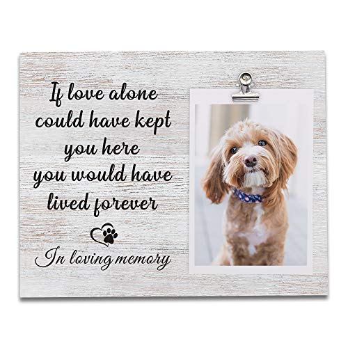 Dog and Cat Memorial Gifts, Sentiment Picture Frame, Sympathy Gifts for Loss of Dog, Pet Remembrance Gift, Dog Footprint, Pet Loss Gifts