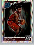 2018-19 Donruss Optic Shock Basketball #180 Collin Sexton Cleveland Cavaliers Rated Rookie Official NBA Trading Card Produced By Panini. rookie card picture