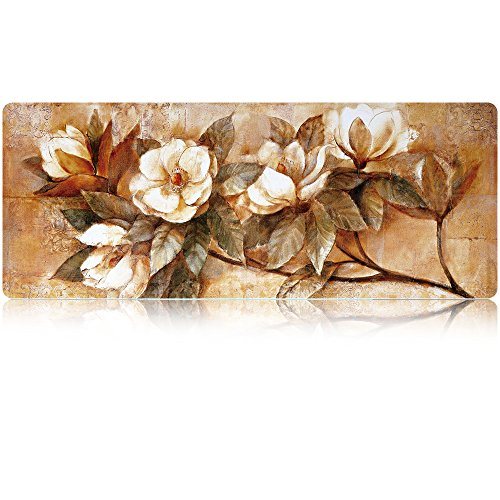 LIEBIRD 36x14 Flower Extra Large Gaming Mouse Pads/Extended Protective Office Desk Mouse Mat