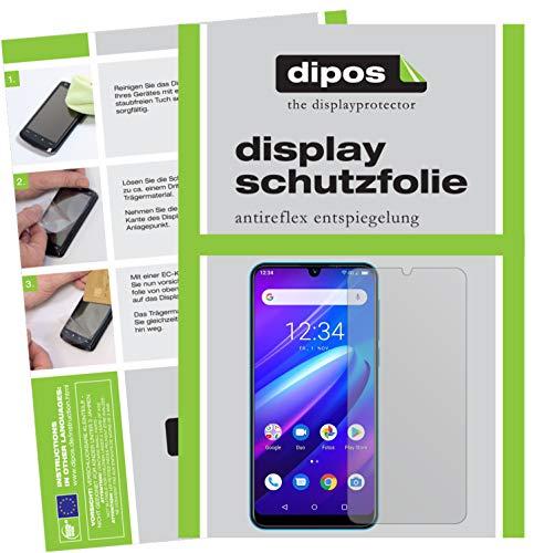 dipos I Schutzfolie matt kompatibel mit Beafon M6 Bildschirmschutz-Folie (Kleiner als das Glas, da Dieses gewölbt ist)