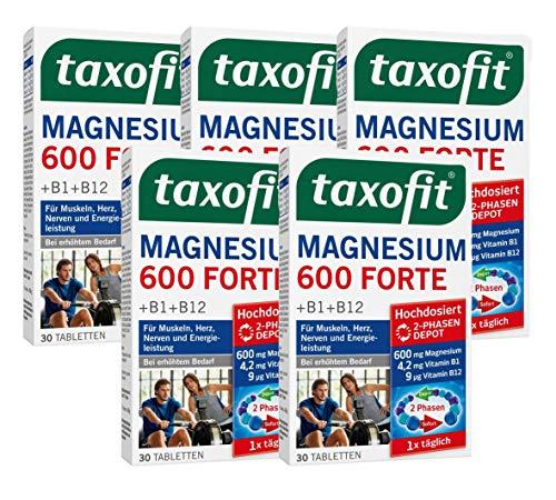 Taxofit Magnesium 600 Forte 2Phasen Depot, 5er Pack