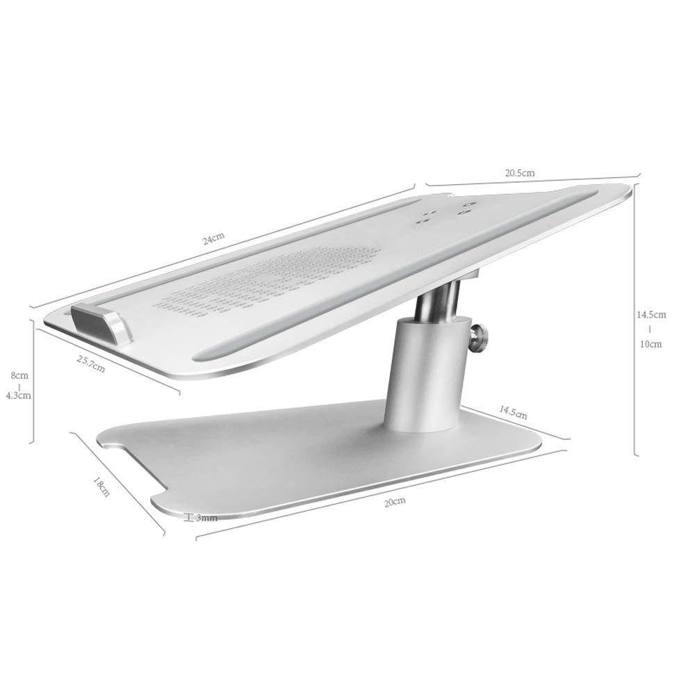 KISlink Soporte para computadora portátil: aleación de Aluminio, Altura Ajustable (10-14.5 cm), Compatible con Varios tamaños, Soporte de Base de enfriamiento de ángulo de Comodidad Universal antide: Amazon.es: Hogar