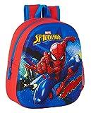 Safta 642167890 Mochila Diseño 3D Adaptable a Carro de SpiderMan, 270x100x320mm, azul/rojo