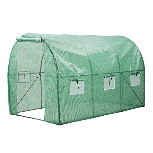 Finether-Invernadero Arqueado con 6 Respiraderos de Malla y Tapa Transparente, Ideal para Jardín, Balcón, Patio etc