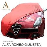 Telo COPRIAUTO da Interno DESTINATO A Alfa Romeo Giulietta Rosso GARAGECOVER vestibilità Perfetta E Cover su Misura Consegna Rapida