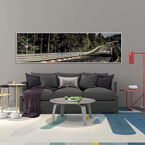 oioiu Stadt Nürburgring Rallye Spur Sportwagen Ringschiene HD-Druck Leinwand Malerei Wald natürliche Landschaft Wandkunst Poster Wohnzimmer Wohnkultur