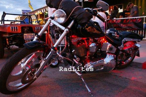 Red 4 PC LED Neon Motorcycle Lighting Kit