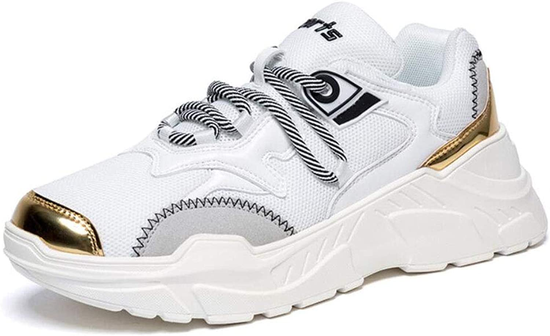 YAN Mnner Schuhe Mesh Dicke Unterseite Outdoor Schuhe Laufschuhe Leichte Turnschuhe Sportschuhe Mesh Althletic Casual Gym Schuhe (Farbe   Wei, Gre   41)