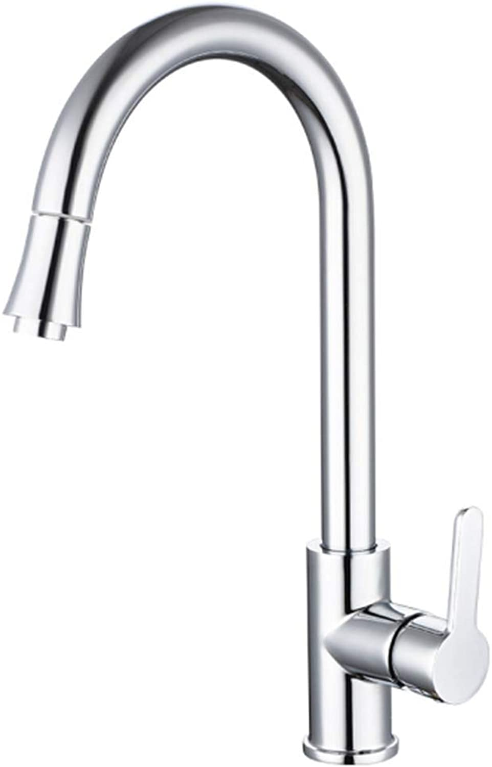 Kitchen Faucet Tapstainless Steelkitchen Faucet Probathroom Kitchen Faucet Sprinkler Copper Main Drawing Faucet Telescopic Flume Faucet Cold and Hot Water Faucet of Vegetable Washing Pot