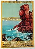 Unbekannt Perros Gurec Poster Bretagne, Reproduktion,