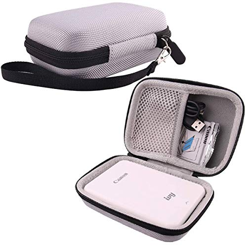 Hard EVA Travel Case for Canon Ivy Mobile Mini Photo Printer by WERJIA (Gray)