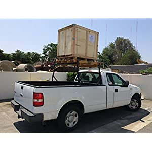 AA Products Inc. AA-Racks X35 Truck Rack with (8) Non-Drilling C-Clamps Pick-up Truck Utility Ladder Rack Matte Black