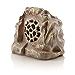 Alpine Corporation QLP542SLR-BR Bluetooth Enabled Rock Solar Speaker, Brown