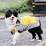 Bolbove Big Dog Hooded Raincoat Slicker Rain Poncho Waterproof Jacket for Medium to Large Dogs (10, Orange)