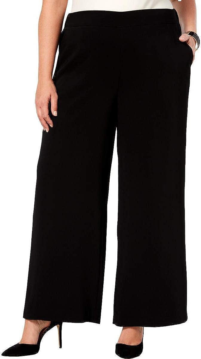 NINE WEST Women's Plus Size Wide-Leg Pants