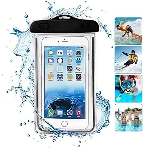 ONX3 negro universal impermeable teléfono playa piscina lluvia documento valiosos protección caso bolsa compatible con Huawei Honor Magic 2 3D