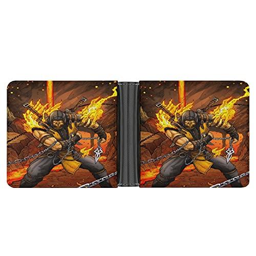 Scorpion Mortal Kombat X POWR Herren Geldbörse, Leder, PU Faser, Bi-Fold Kartenhalter mit Schlitzen, Fächern und Ausweis-Fensterschlitz, stilvolles, minimalistisches Design