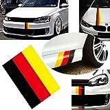 iJDMTOY 10-Inch Germany Flag Color Stripe Decal Sticker Compatible With Euro Car Audi BMW MINI Mercedes Porsche Volkswagen Exterior or Interior Decoration