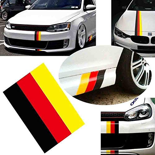 Skino 2 x 3D Domed Silicone Stickers Decals Germany National German Flag Car Motorcycle Helmet F 9
