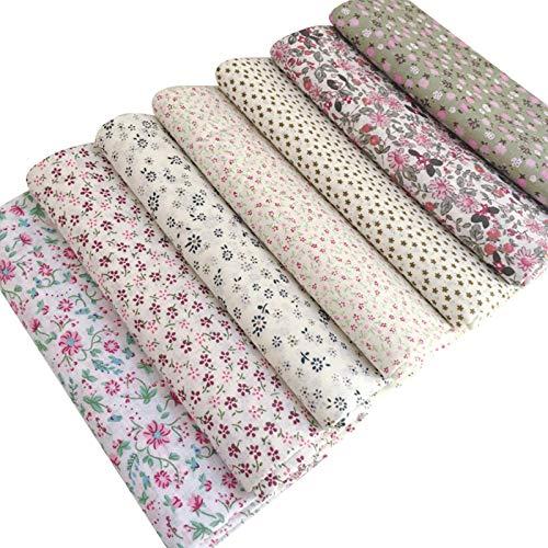 MAGFYLYDL Telas para Patchwork Patchwork Baby Quilt Tela De Algodón para La Tela De Algodón De Costura para La Tela De Dibujos De Patrón Floral(Color:Flowers 1)