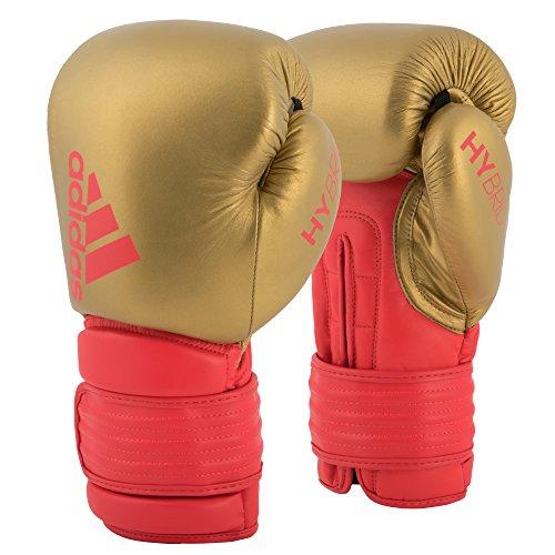 adidas Hybrid 300 Boxhandschuhe, Gold/Rot, 16 oz
