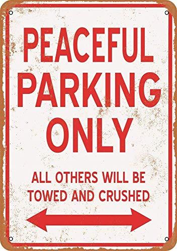 Yilooom - Placa de Metal Retro Vintage para Pared, decoración de Pared, Accesorios de decoración de Pared, Regalos – Solo Aparcamiento pacífico – 8