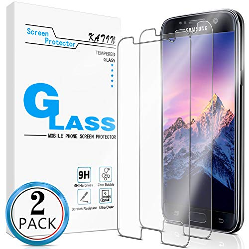 KATIN Galaxy S6 Screen Protector - [2-Pack] for Samsung Galaxy S6 Tempered Glass No-Bubble, 9H Hardness, Easy to Install