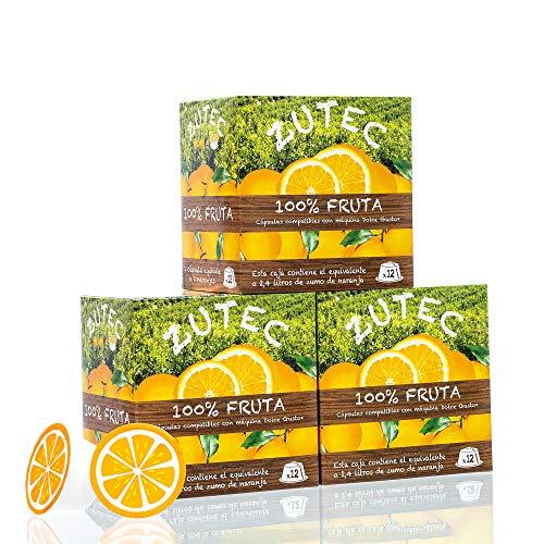 Zutec - Cápsulas de Zumo de Naranja - Compatibles con cafeteras Nescafé...