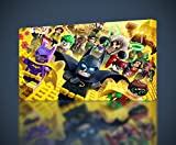 Lego Batman Movie Canvas Print Wall Decor Giclee Art Poster Robin Joker CA528, Small