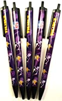 NFL Minnesota Vikings Disposable Black Ink Click Pens, 5-Pack