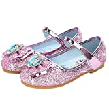 AIYIMEI Zapatos de la Princesa Elsa niñas con Lentejuela Zapato de Disfraz Elsa de Princesa Disfraz Sandalias con Velcro Zapatos de Fiesta Halloween Cumpleaños 3-11 Años