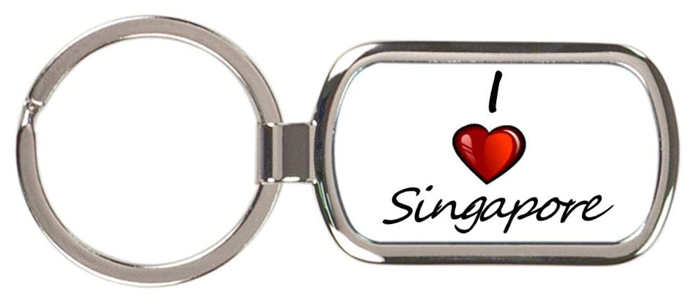 出席年金ネクタイI Love Singaporeキーチェーン