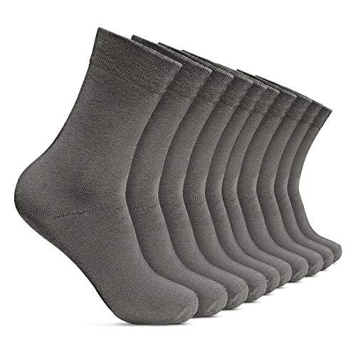 ROYALZ Herrensocken 10 Paar Casual-Business und Freizeit Anzug-Socken Herren-Strümpfe lang 10er Pack, Farbe:10 Paar/Grau, Größe Socken:39-42