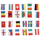 Tinksky European Cup Banner Bunting International Flag Hanging Flags Banner Club Restaurant Bar Rasen Street Bunting Dekorative Flagge