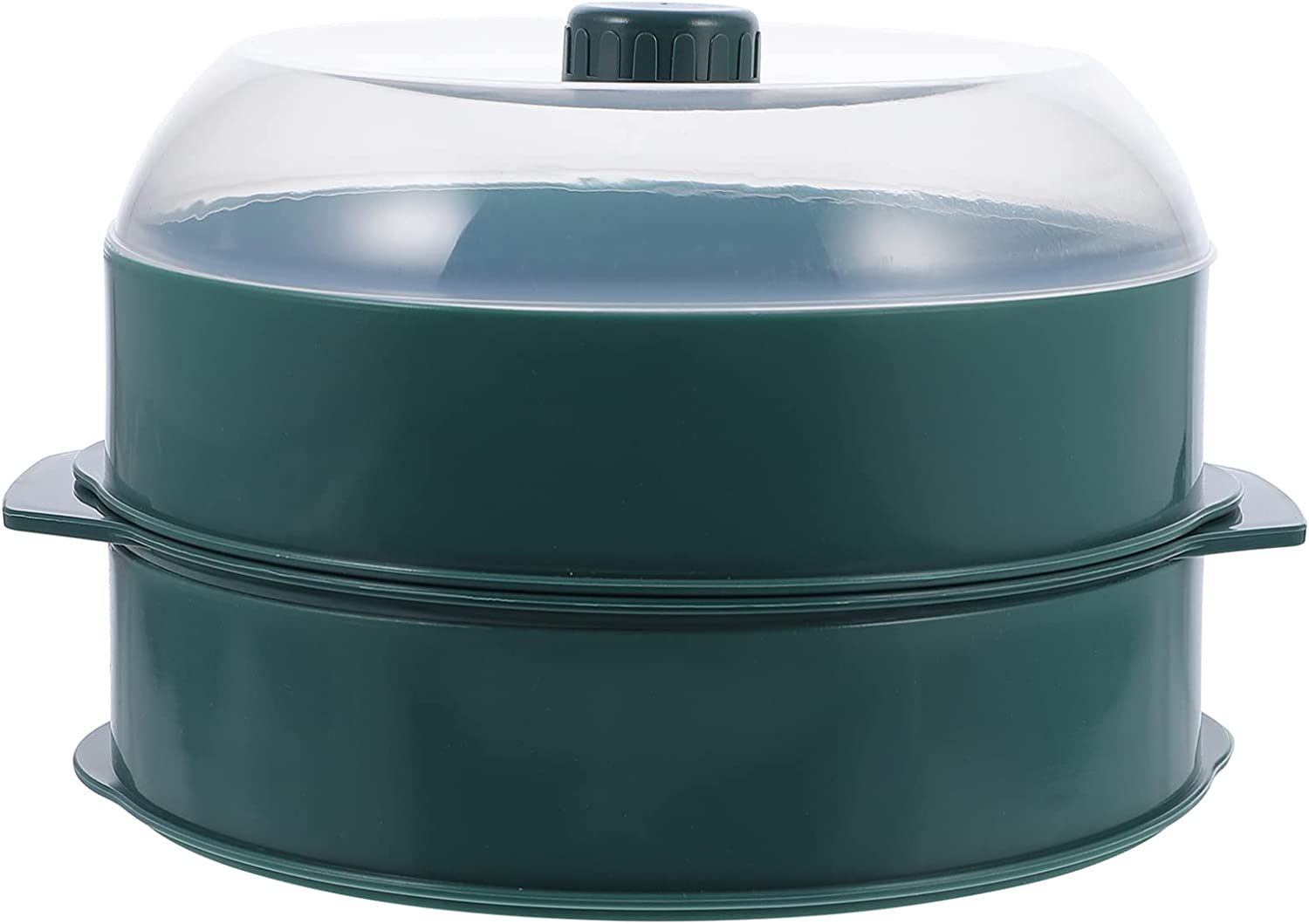 Luxshiny Microwave Cookware Steamer with Double Rice Layer Lid C Elegant At the price