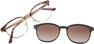 Armação para Óculos de Grau Feminino CHILLI BEANS Multi Jazz Marrom, LVMU0385 5702, Tamanho Único