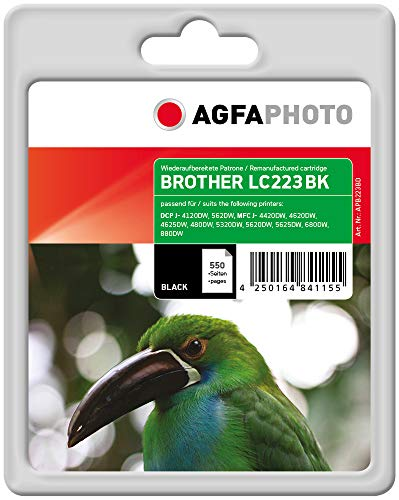 AgfaPhoto APB223BD Remanufactured Tintenpatronen Pack of 1