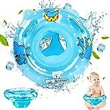 GUBOOM Inflable Flotador para Bebé, Círculo de Natación con Asiento, Flotador de Natación para Bebés, Anillo de Flotador de Bebé, Anillos Flotador Inflable Anillo para Bebé 6-36 Mes (Azul)