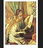 Pinturas con Numeros para Adultos Kits Manualidades Dos Chicas Tocando El Piano Pinturas Oleo DIY Regalos Pinturas para Lienzo 40X50Cm