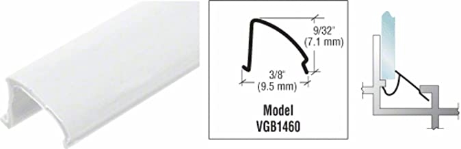 white vinyl glazing bead