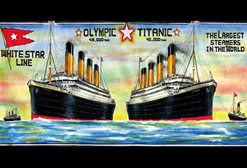 Targa Vintage in Metallo con Scritta Easy Painter Titanic 1912 Bar Pub 20 x 30 cm