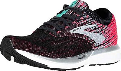 Brooks Women's Ricochet Running Shoes, Multicolour (Pink/Black/Aqua 678), 6.5 UK