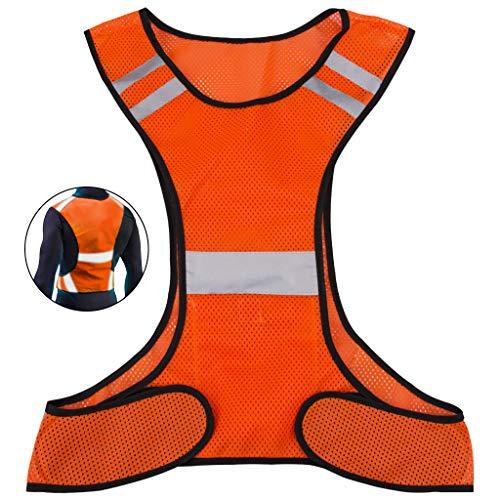 Chaleco de seguridad con bolsillos, reflectante, para correr, hacer ciclismo o para pasear a tu perro, indumentaria deportiva, de alta visibilidad, para adultos y niños