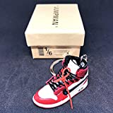 Air Jordan 1 I High Retro Off White Chicago Bulls OG Sneakers Shoes 3D Keychain Figure With Shoe Box
