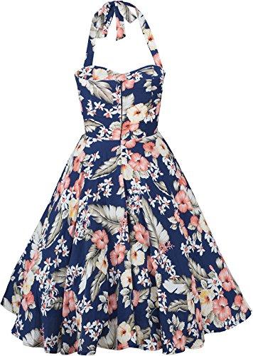 Küstenluder WANDA Hibiscus Aloha Vintage Neckholder SWING Dress Kleid Rockabill - 5
