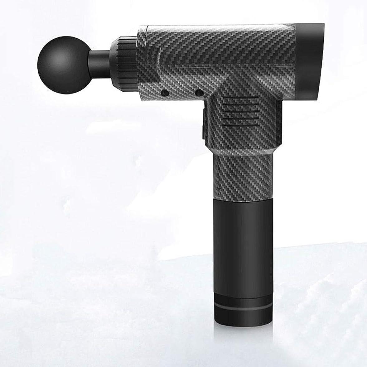 同盟神経衰弱改修するヌアキシン 電動筋膜銃マッサージ銃深筋リラクゼーション家庭用フィットネス、低ノイズ、4マッサージヘッド、5回の調整、サイズ28.3x25.2cm N30