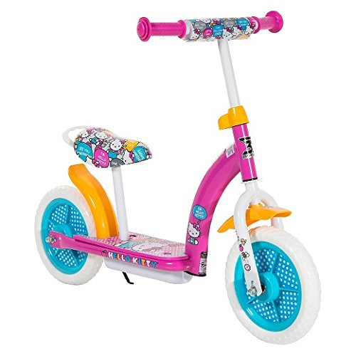 "Hello Kitty 2in1 Balance Bike and Scooter - Pink (10"")"