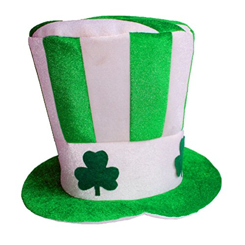 BESTOYARD Irish Hat Grün Stovepipe Masquerade Shamrock Top Hut Dress Up für St. Patrick's Day Party Kostüm Dekoration