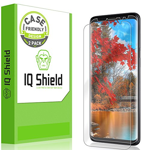 IQ Shield Screen Protector Compatible with Galaxy S9 (2-Pack)(Case Friendly) Anti-Bubble Clear...